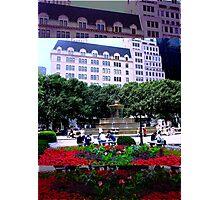Plaza Hotel/Fountain, NYC, NY Photographic Print