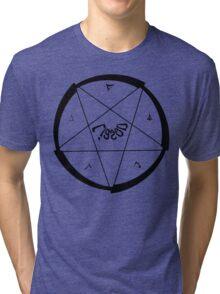 Lucas Darklord Summoning 1 Black Print Tri-blend T-Shirt