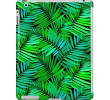 Tropical print in multiple green colors with fern and palm leaves iPad Case/Skin