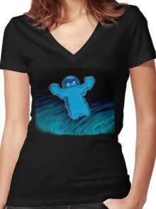 River Ghost Women's Fitted V-Neck T-Shirt