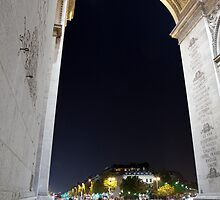 Under Arc de Triomphe by Alexander Davydov