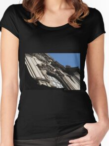 Building Facade 1 Women's Fitted Scoop T-Shirt
