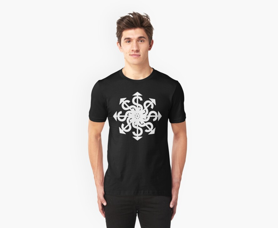 Lucas Darklord Chao$ Logo 1 White Print by Crypt Designers Guild