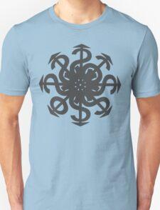 Lucas Darklord Chao$ Logo 2 Grey Print T-Shirt