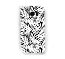 Tropical print in black and white with palm leaves Samsung Galaxy Case/Skin