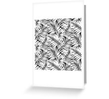 Tropical print in black and white with palm leaves Greeting Card