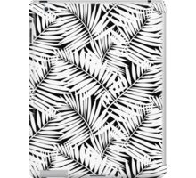 Tropical print in black and white with palm leaves iPad Case/Skin