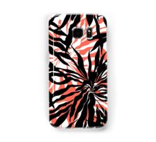 Bold tropical print with palm leaves on pink background Samsung Galaxy Case/Skin