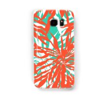 Burnout tropical print with big palm leaves Samsung Galaxy Case/Skin