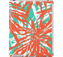 Burnout tropical print with big palm leaves iPad Case/Skin