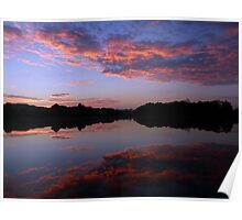 Colour Pre-Sunrise Clouds - Reflected Poster
