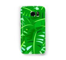 Bright tropical floral print with big banana palm leaves Samsung Galaxy Case/Skin