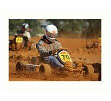 Dirt Go Kart King Art Print