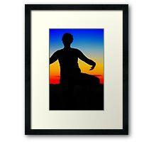 YOGA. Framed Print