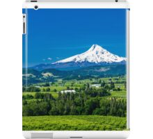 Mount Hood with orchards iPad Case/Skin