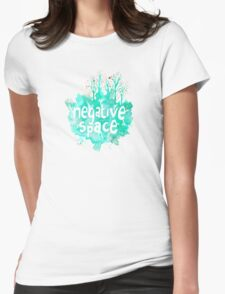 negative space Womens Fitted T-Shirt