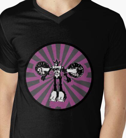 Microbot - Magenta Mens V-Neck T-Shirt
