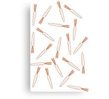 Dancing Carrots Canvas Print