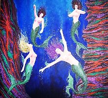 Mermaids at Dwejra by Joseph Barbara