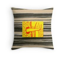 Rabbit Cat 2 Throw Pillow