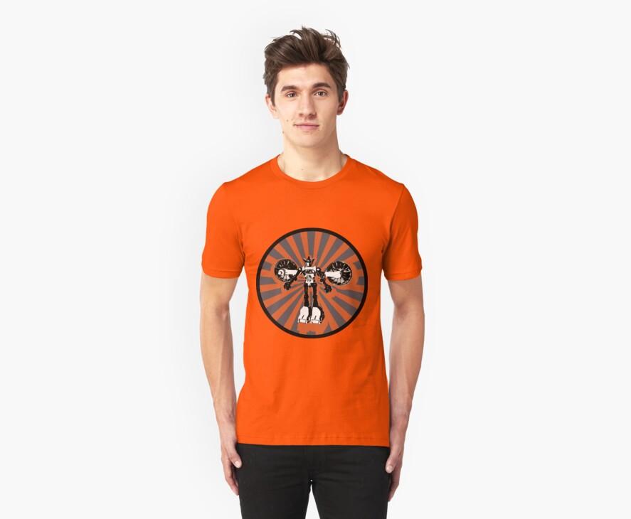 Microbot - Orange by Phantom Spaceship Design