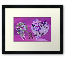 Purple Passion for Life Framed Print