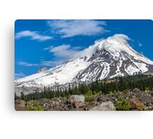 Mt Hood From White River Canvas Print