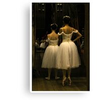 Waiting in the wings Canvas Print