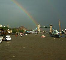 Tower Bridge rainbow (London) by MisterD