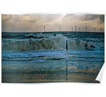 Rough Sea Caister Wind Farm 2 Poster