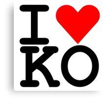 I Heart KO Canvas Print