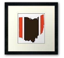 #GoBrowns Framed Print
