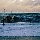Rough Sea Caister Wind Farm 5 by Gary Rayner
