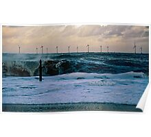 Rough Sea Caister Wind Farm 5 Poster