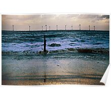 Rough Sea Caister Wind Farm 4 Poster