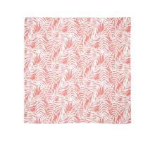 Tropical print in pink and white with palm leaves Scarf