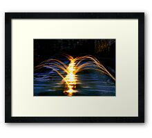 Fountains at night Framed Print