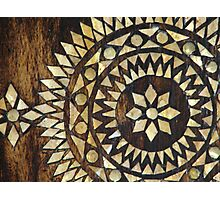 Gold Patern in Wood Photographic Print