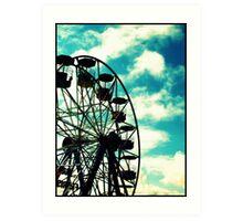 Big Wheel, Scarborough. Art Print