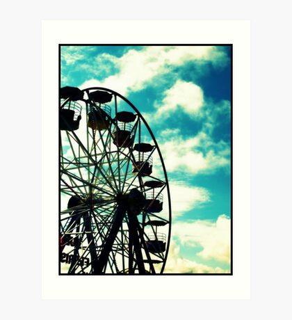 Big Wheel, Scarborough. Art Print