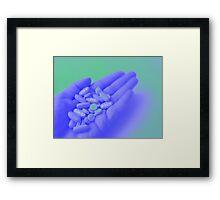 Take the Pain Away. Framed Print