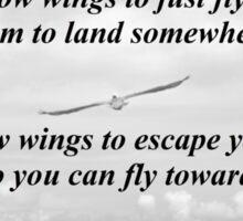 Wings Of Em Poem Sticker