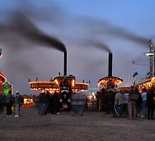 Showmans engines at dusk by Rob Hawkins