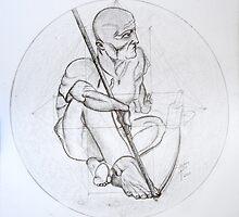 The man with the scythe by Paun