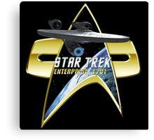 StarTrek Enterprise  Com badge Canvas Print