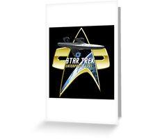 StarTrek Enterprise  Com badge Greeting Card