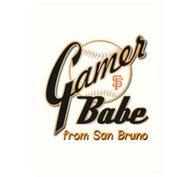 SF Giants Gamer Babe from San Bruno Art Print
