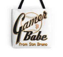 SF Giants Gamer Babe from San Bruno Tote Bag
