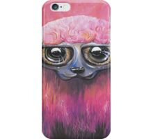 Pink Sheep Acrylic Color Painting iPhone Case/Skin