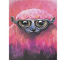Pink Sheep Acrylic Color Painting Photographic Print